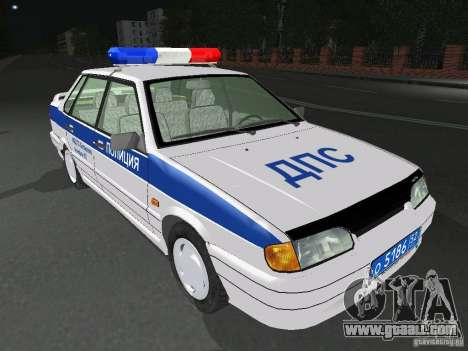 VAZ 2115 Police DPS for GTA San Andreas