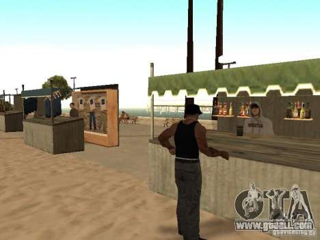 Market on the beach for GTA San Andreas ninth screenshot