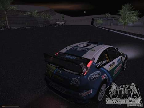 Ford Focus RS WRC 2006 for GTA San Andreas interior