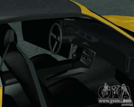 Chevrolet Camaro 1992 for GTA San Andreas right view