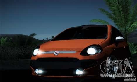 Fiat Punto Evo 2010 Edit for GTA San Andreas bottom view