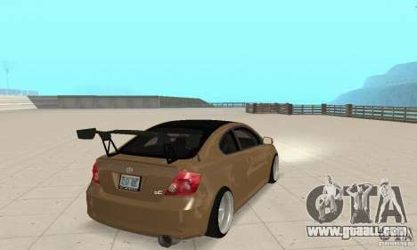 Toyota Scion tC Edited for GTA San Andreas left view