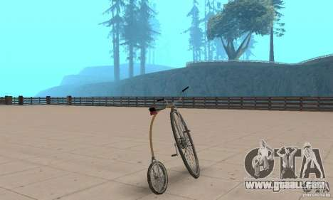 Penny-Farthing Ordinary Bicycle for GTA San Andreas left view