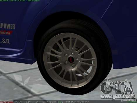 Subaru Impreza for GTA San Andreas upper view