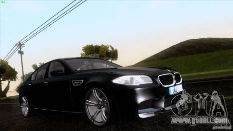 BMW M5 2012 for GTA San Andreas side view