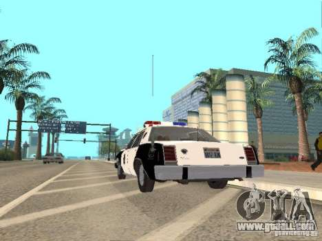 Ford LTD Crown Victoria Interceptor LAPD 1985 for GTA San Andreas right view