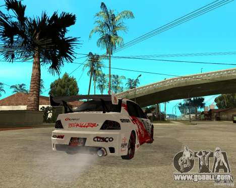 Lancer Evolution VIII, the Americans intervened for GTA San Andreas back left view