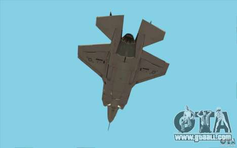 Lockheed F-35 Lightning II for GTA San Andreas inner view
