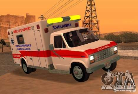 Ford Econoline Ambulance for GTA San Andreas back left view