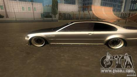 BMW E46 M3 Coupe 2004M for GTA San Andreas back left view