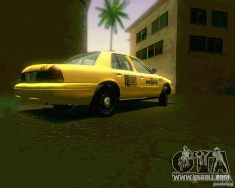 Ford Crown Victoria 2003 NYC TAXI for GTA San Andreas right view