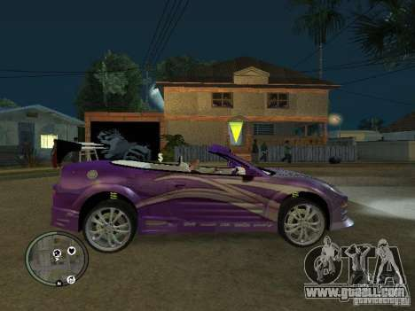 Mitsubishi Spyder 2Fast2Furious Cabriolet for GTA San Andreas left view