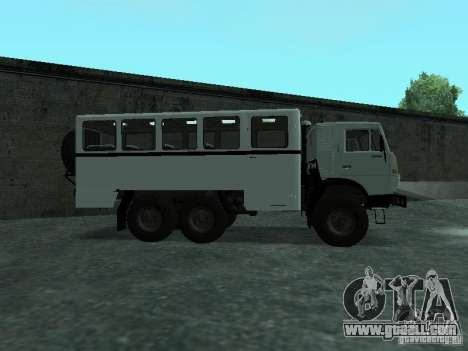 KAMAZ 4310 Watch for GTA San Andreas left view