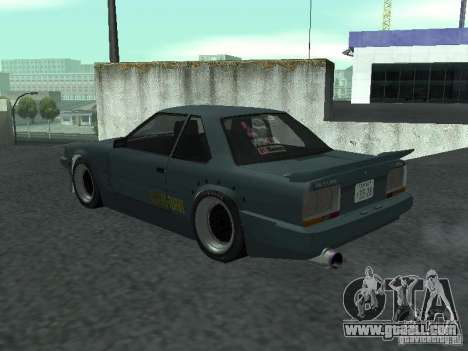 Nissan Skyline RS R30 for GTA San Andreas back left view