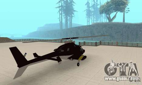 Airwolf for GTA San Andreas left view
