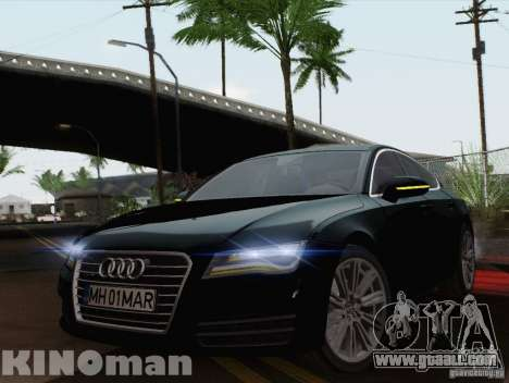 Audi A7 Sportback 2010 for GTA San Andreas back left view