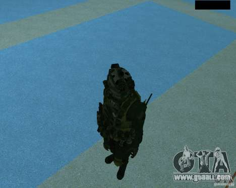 The third soldier from the skin Cod MW 2 for GTA San Andreas sixth screenshot