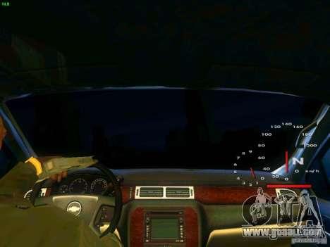 Chevrolet Silverado Final for GTA San Andreas inner view