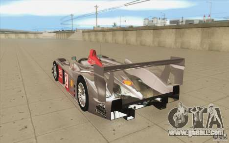 Audi R10 LeMans - Stock for GTA San Andreas back left view