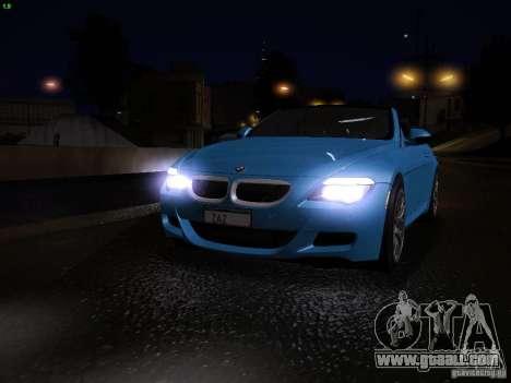 BMW M6 for GTA San Andreas interior