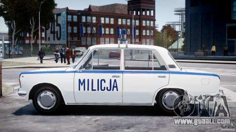 Fiat 125p Polski Milicja for GTA 4 left view