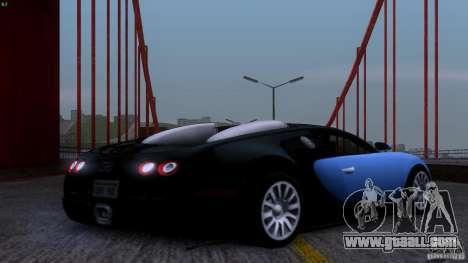 Bugatti Veyron 16.4 for GTA San Andreas side view