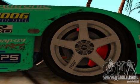 Mazda RX7 Falken edition for GTA San Andreas inner view