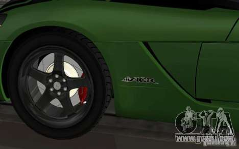 Dodge Viper a little tuning for GTA San Andreas back left view