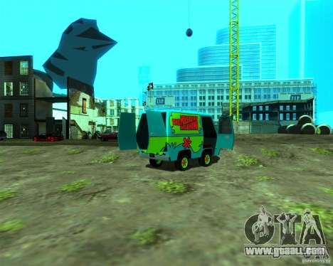 Mystery Machine for GTA San Andreas back left view