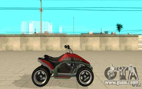 Powerquad_by-skin 2-MF Woofi for GTA San Andreas left view
