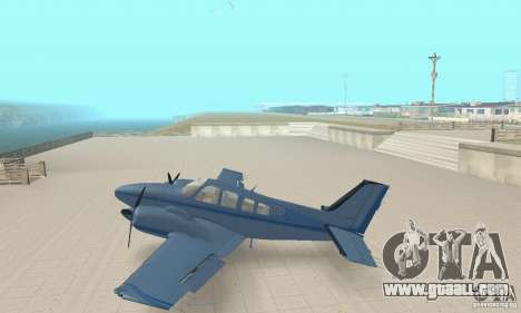 Beechcraft Baron 58 T for GTA San Andreas back left view