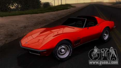 Chevrolet Corvette C3 Stingray T-Top 1969 v1.1 for GTA San Andreas side view