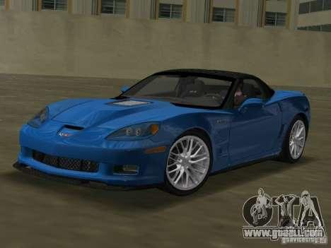 Chevrolet Corvette ZR1 for GTA Vice City