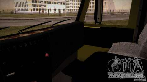 KAMAZ 5460 Restyling for GTA San Andreas inner view