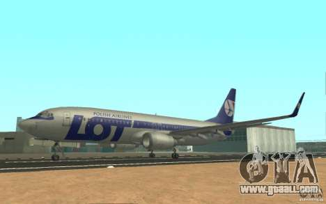 Boeing 737 LOT Polish Airlines for GTA San Andreas