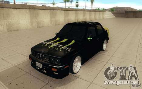 BMW E30 323i for GTA San Andreas back view