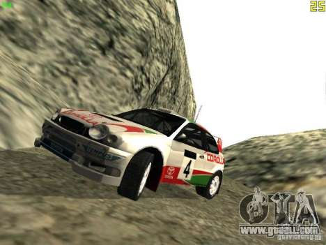 Toyota Corolla 1999 Rally Champion for GTA San Andreas