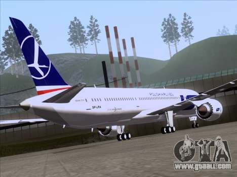 Boeing 787-9 LOT Polish Airlines for GTA San Andreas inner view