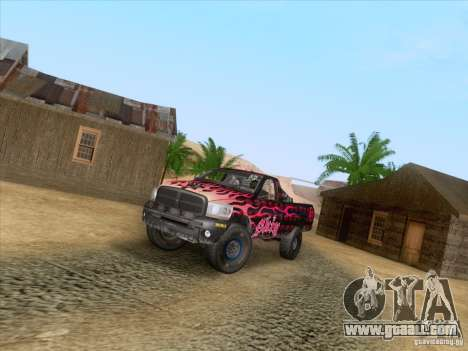 Dodge Ram Trophy Truck for GTA San Andreas side view