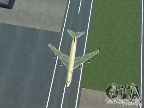 Boeing 747-400 Delta Airlines for GTA San Andreas back view