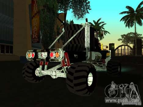 Kenworth W900 Monster for GTA San Andreas right view