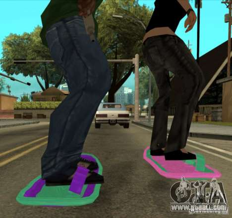 Hoverboard bttf for GTA San Andreas back left view