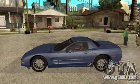 Chevrolet Corvette 5 for GTA San Andreas interior