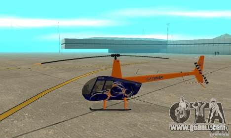 Robinson R44 Raven II NC 1.0 Skin 3 for GTA San Andreas back left view