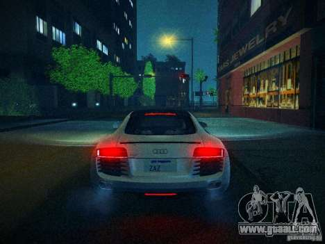 Audi R8 V10 for GTA San Andreas upper view