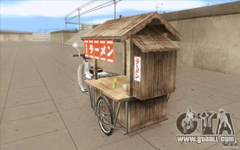 Honda Super Cub with a cart for GTA San Andreas back left view