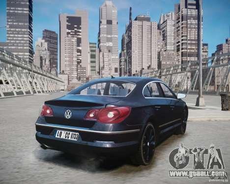 Volkswagen Passat CC for GTA 4 left view