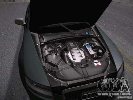 Audi RS6 2009 for GTA San Andreas inner view