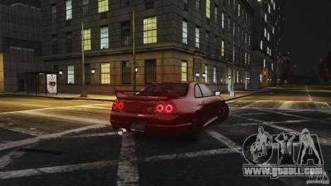 Nissan Skyline R33 GTR V-Spec for GTA 4 right view
