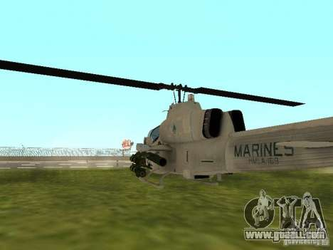 AH-1 Supercobra for GTA San Andreas right view